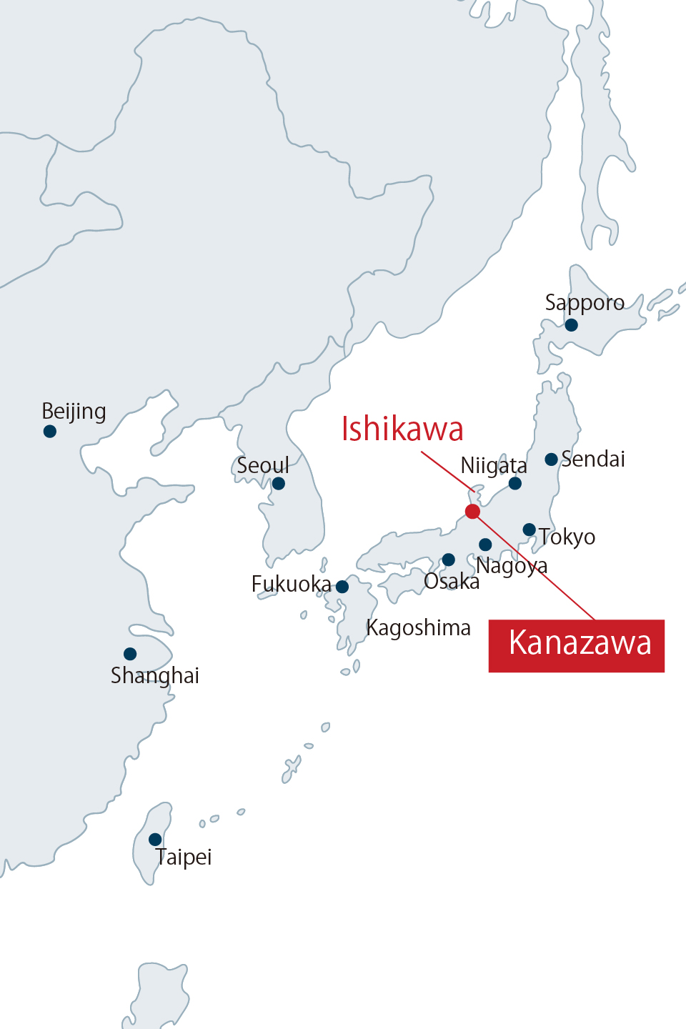 ACCESSKanazawa University The Top Global University Project - Japan map kanazawa