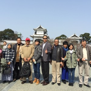 The guests visited some tourist spots  in the morning with international students at Kanazawa University.