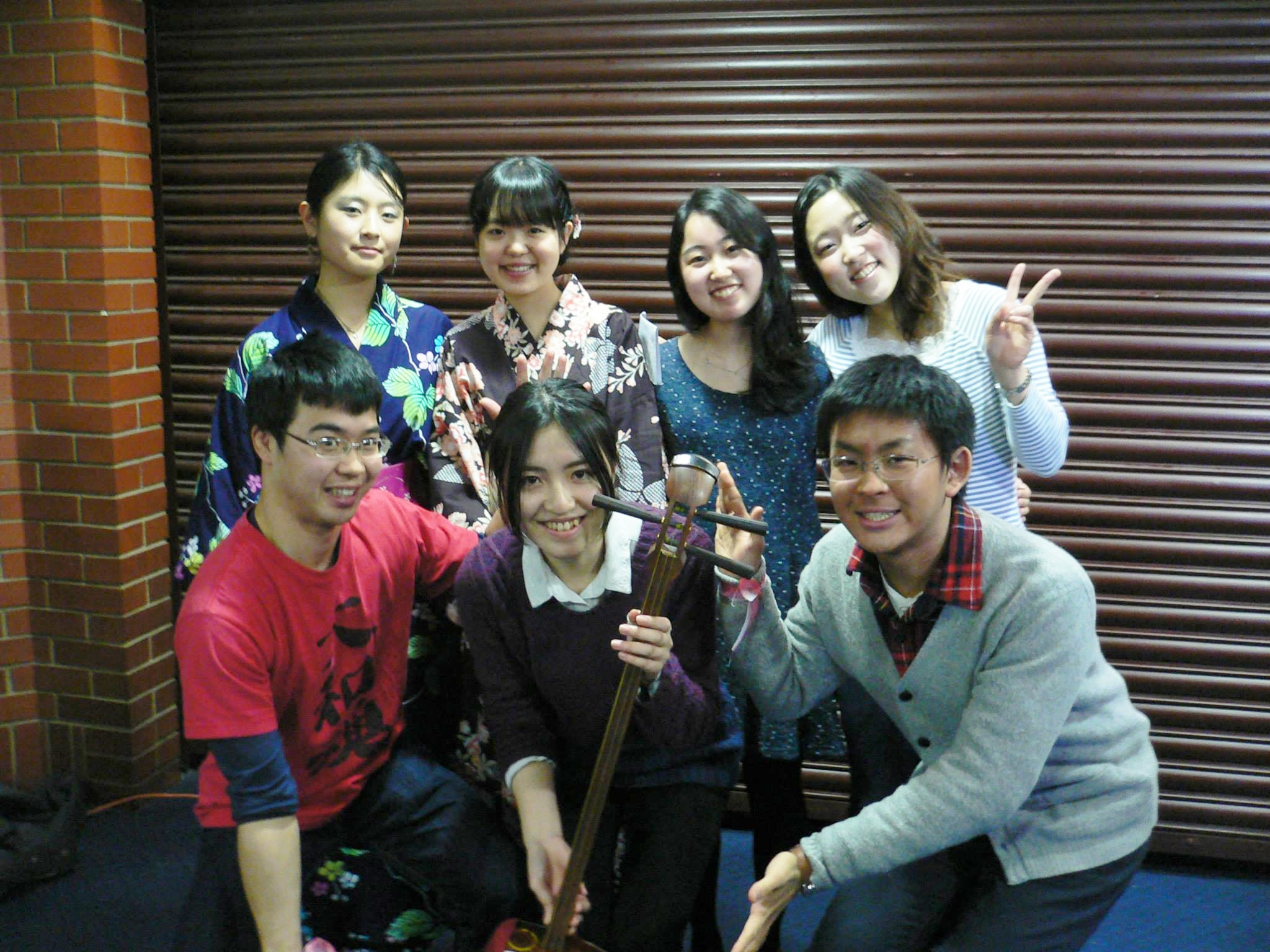 With Japan Society members