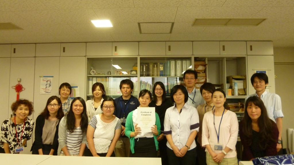 Last day of the internship with staff of the Global Affairs Support Office