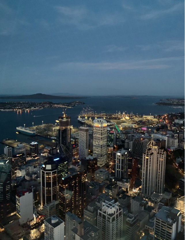 The night view of Auckland City