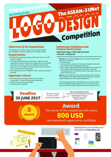 plus three Poster Logo competition