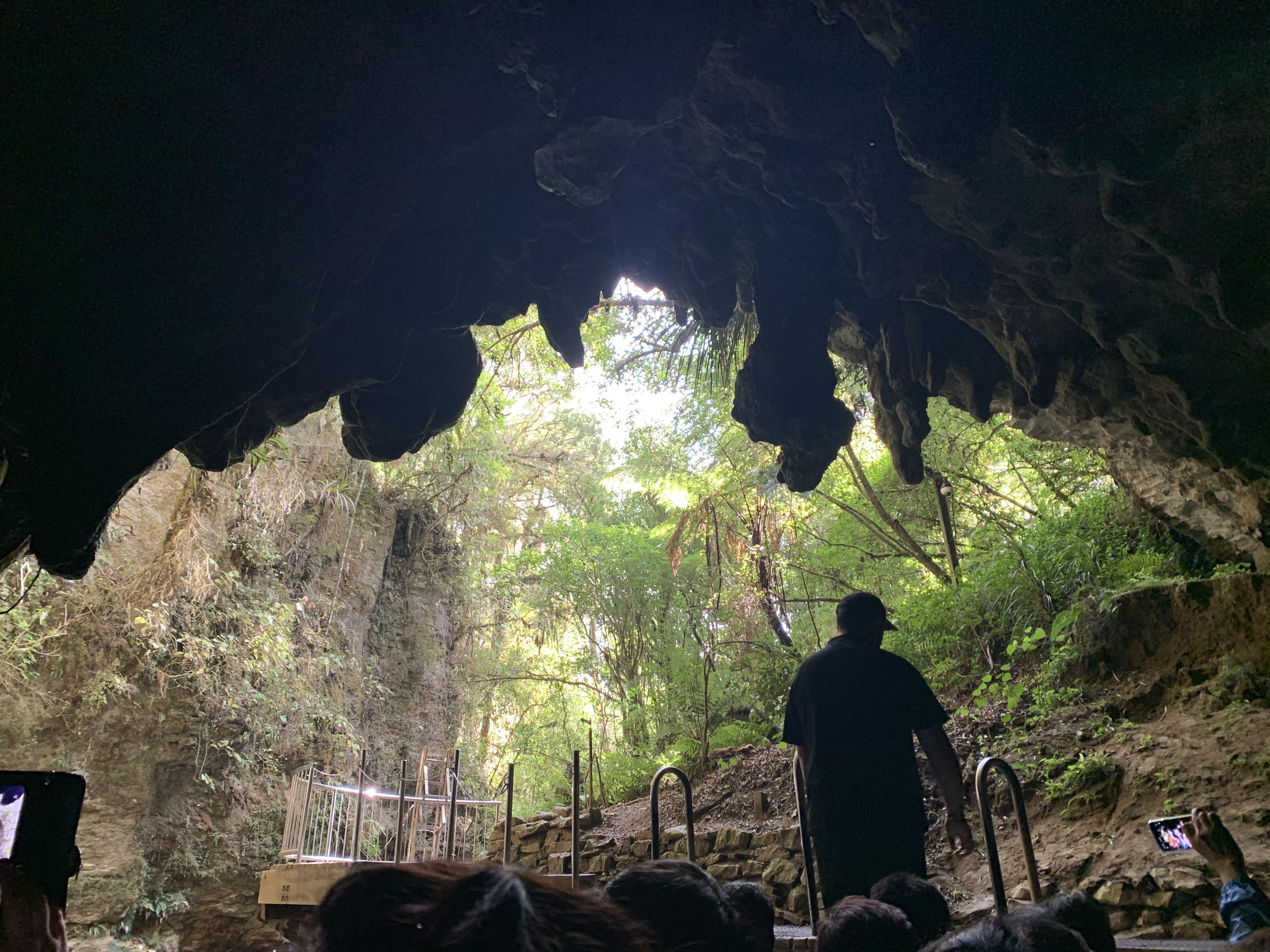 オプショナルツアーで行ったワイトモ洞窟